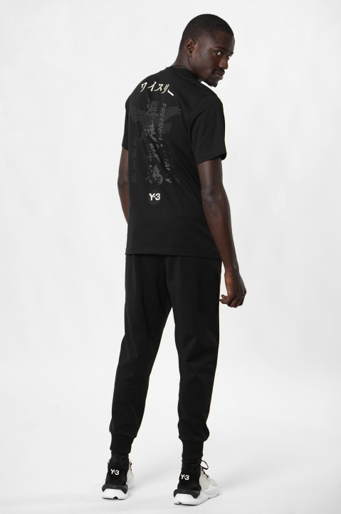 Y-3 All Black Souvenir Tee 2