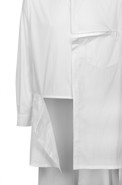 Y-3 White Classic Tunic 2