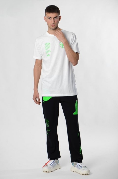 OFF-WHITE White Arch Shapes Slim Tee 2