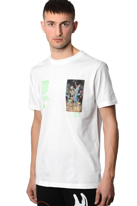 OFF-WHITE White Pascal Painting Tee 0