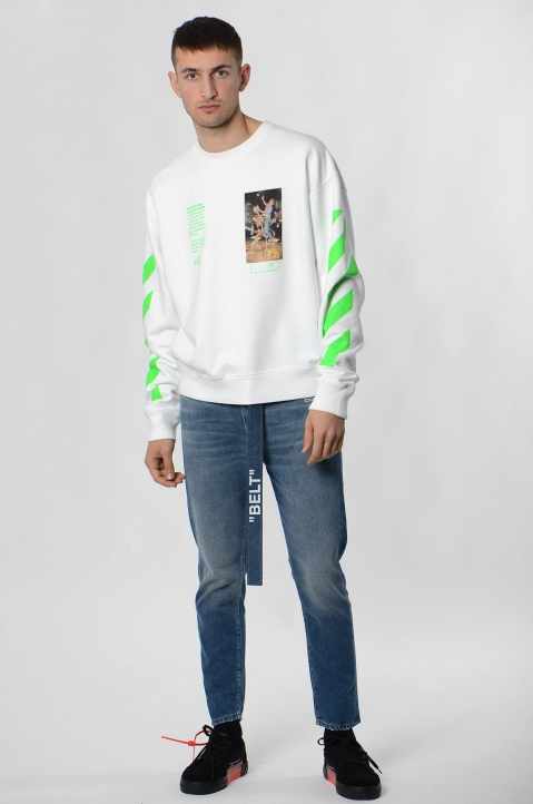 OFF-WHITE White Pascal Painting Sweatshirt 3