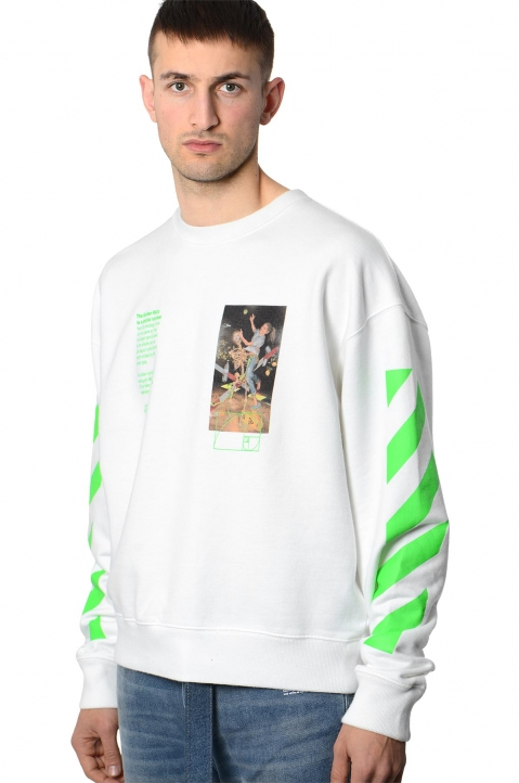 OFF-WHITE White Pascal Painting Sweatshirt 0