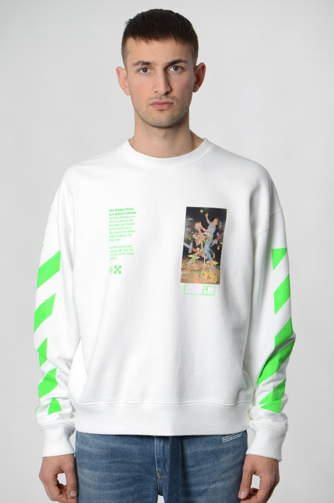 OFF-WHITE White Pascal Painting Sweatshirt 1