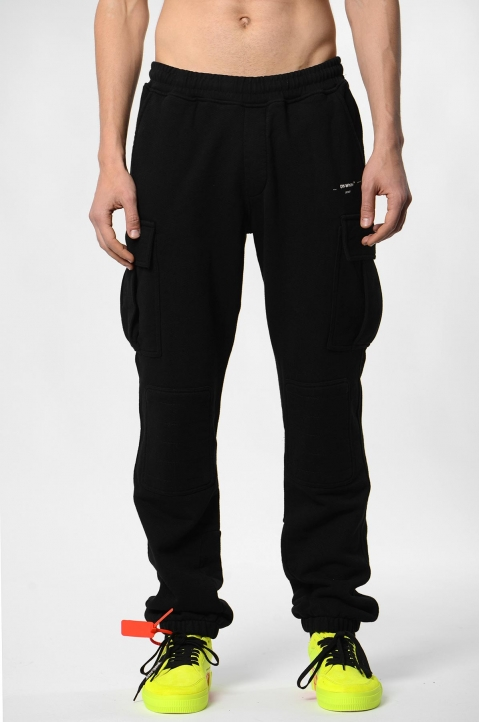 OFF-WHITE Logo Cargo Sweatpants 1
