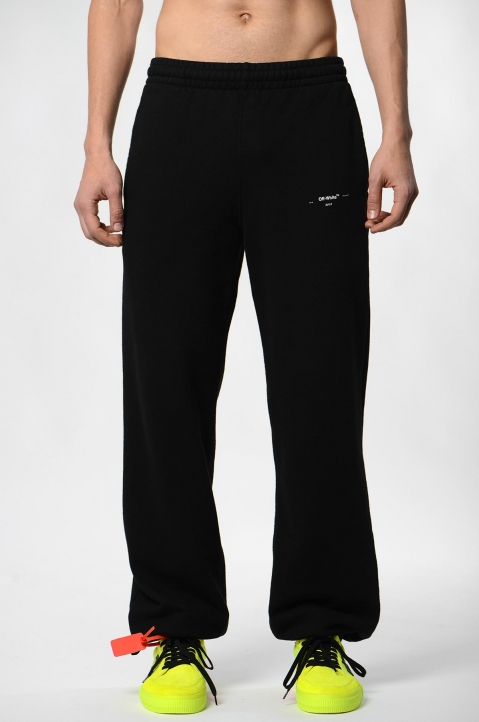 OFF-WHITE Logo Black Sweatpants  1