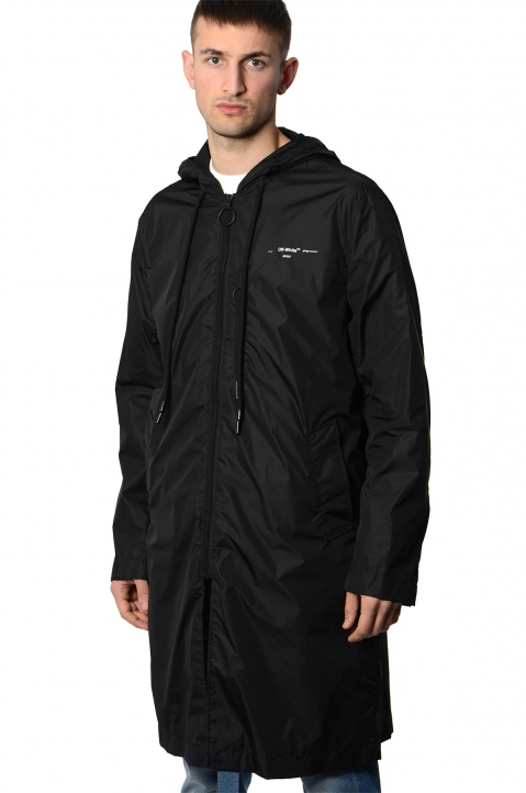 OFF-WHITE Black Raincoat  0