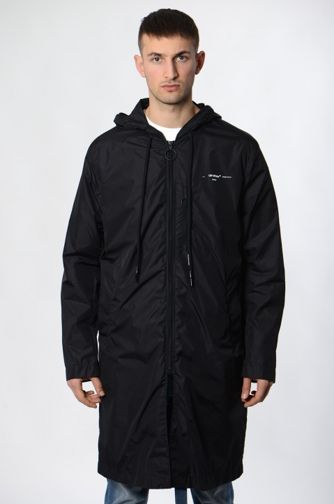 OFF-WHITE Black Raincoat  1