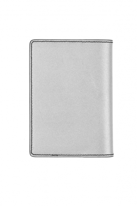 OFF-WHITE Silver Quote Passport Wallet  1