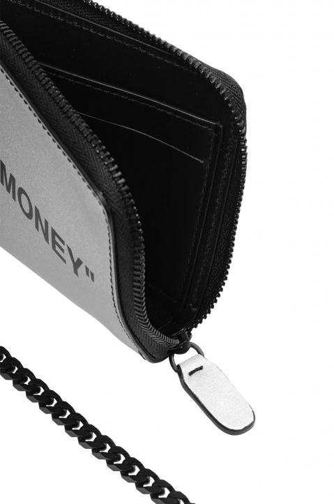 OFF-WHITE Quote Chain Wallet Silver  2