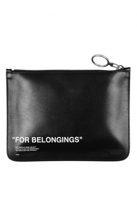 OFF-WHITE Quote Leather Pouch 1