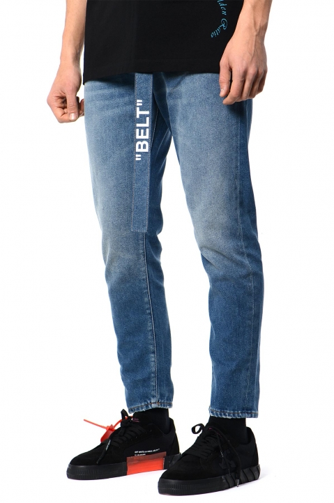 OFF-WHITE Slim Low-Crotch Jeans 0