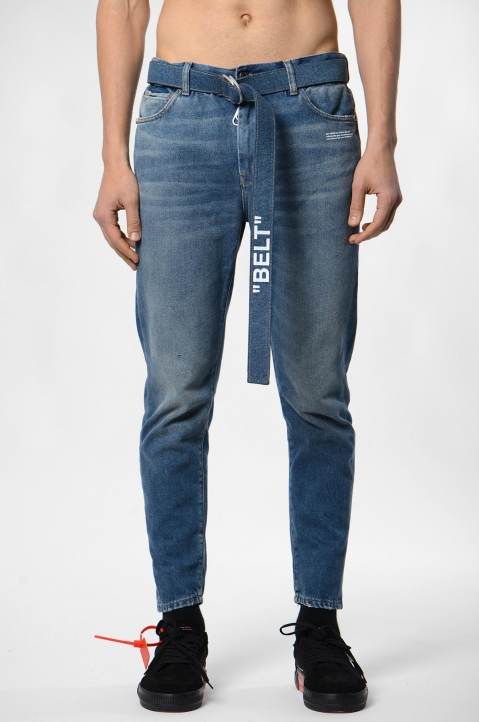 OFF-WHITE Slim Low-Crotch Jeans 1