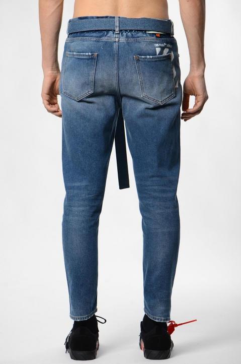 OFF-WHITE Slim Low-Crotch Jeans 2