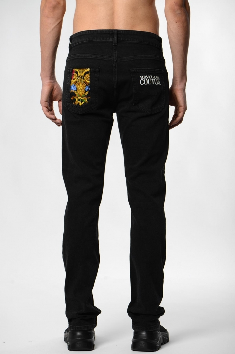 VERSACE JEANS COUTURE Milano Slim Black Jeans 2