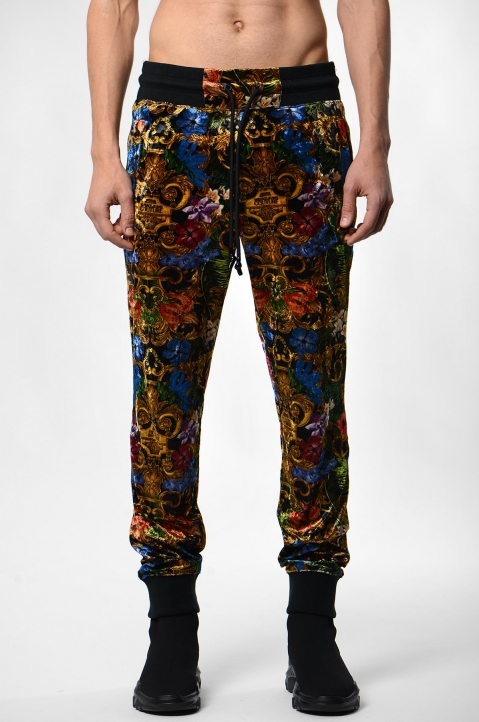 VERSACE JEANS COUTURE Tropical Baroque Print Trackpants 1