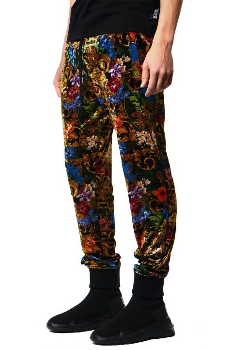 VERSACE JEANS COUTURE Tropical Baroque Print Trackpants 0