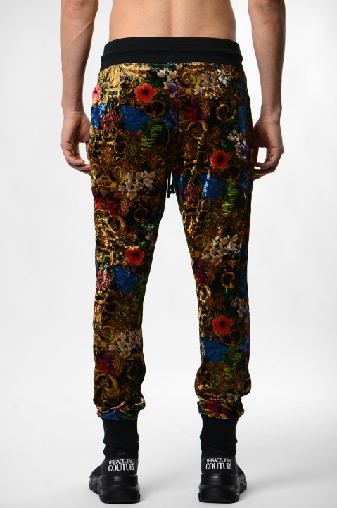 VERSACE JEANS COUTURE Tropical Baroque Print Trackpants 2