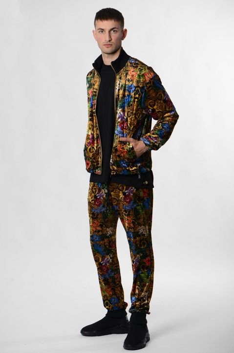 VERSACE JEANS COUTURE Tropical Baroque Print Trackpants 3