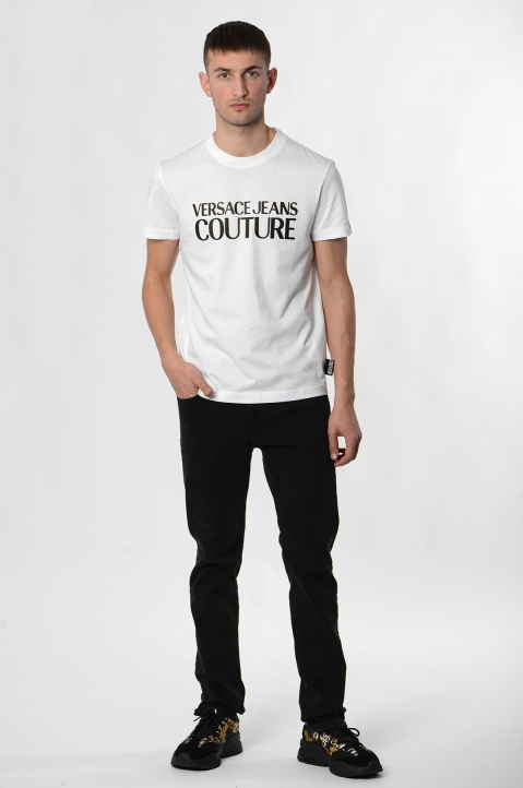 VERSACE JEANS COUTURE Black Logo Tee 3