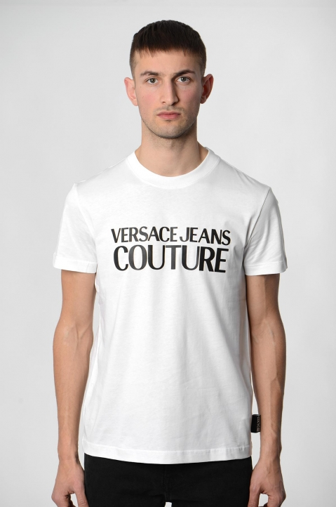 VERSACE JEANS COUTURE Black Logo Tee 1