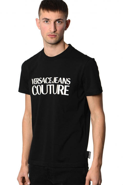 VERSACE JEANS COUTURE Black Logo Tee 0