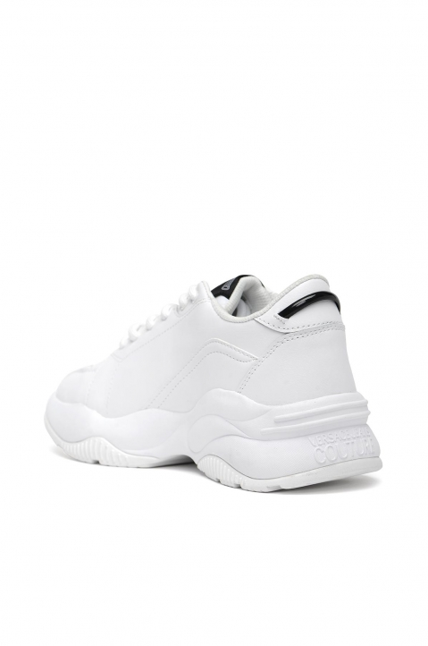VERSACE JEANS COUTURE White Linea Fondo Sneakers 1
