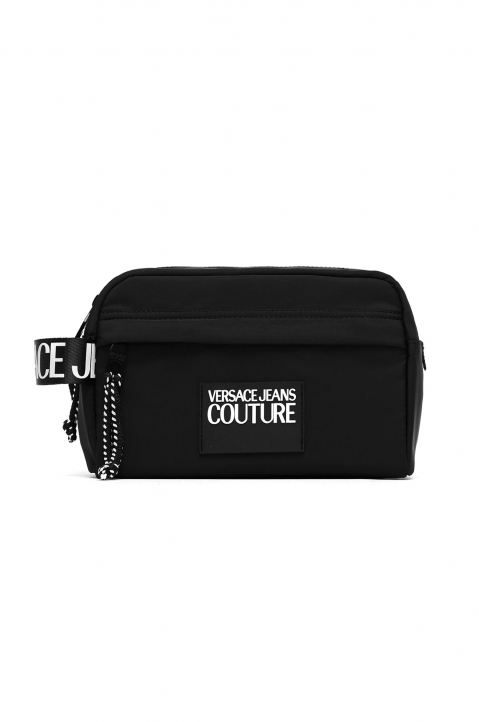 VERSACE JEANS COUTURE Black Linea Logo Washing Bag 0