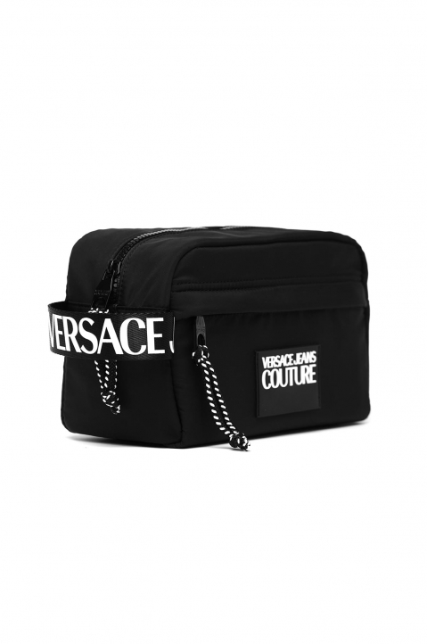 VERSACE JEANS COUTURE Black Linea Logo Washing Bag 2