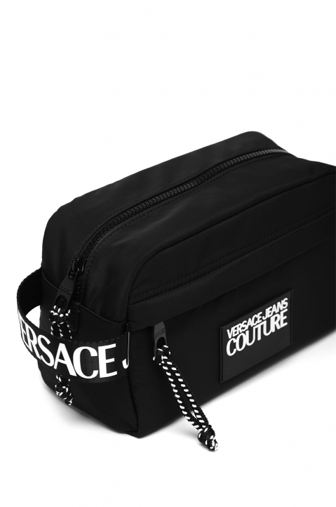 VERSACE JEANS COUTURE Black Linea Logo Washing Bag 3