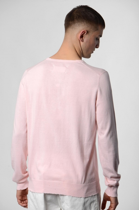 MAISON MARGIELA Distressed Pink Knit Sweater 2