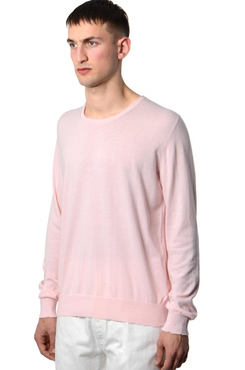 MAISON MARGIELA Distressed Pink Knit Sweater 0
