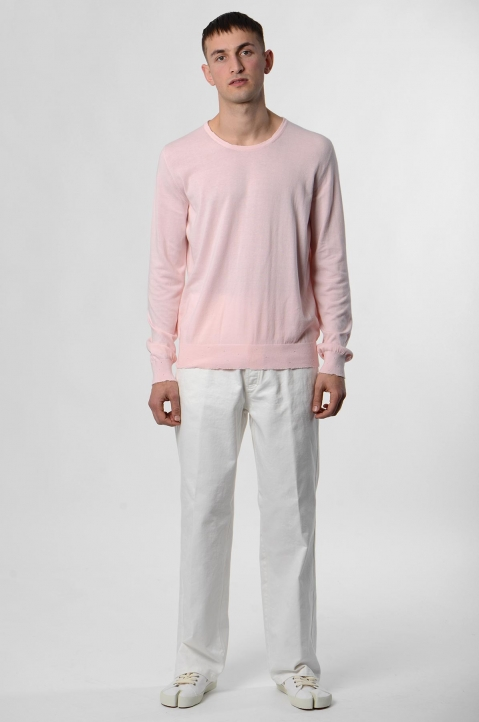 MAISON MARGIELA Distressed Pink Knit Sweater 3