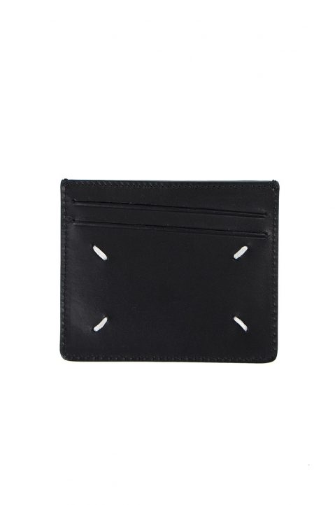 MAISON MARGIELA Textured/Smooth Leather Cardholder  1