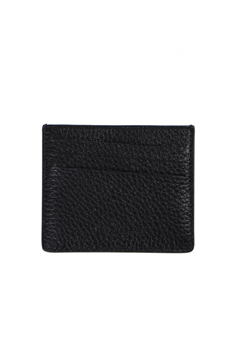 MAISON MARGIELA Textured/Smooth Leather Cardholder  0