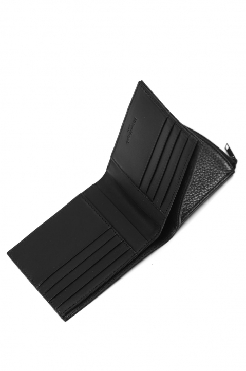 MAISON MARGIELA Black Textured Folded Wallet 2
