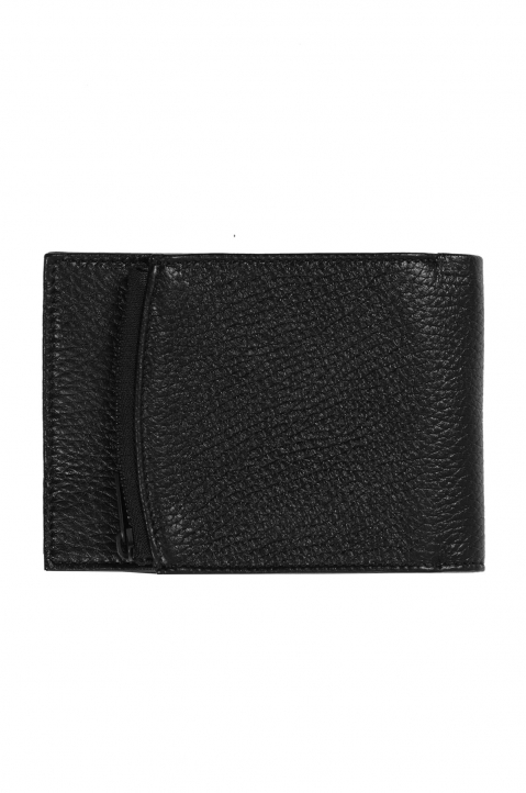 MAISON MARGIELA Black Textured Folded Wallet 0