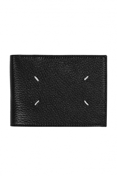 MAISON MARGIELA Black Textured Folded Wallet 1