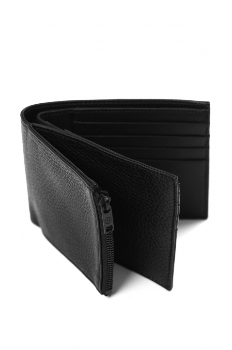 MAISON MARGIELA Black Textured Folded Wallet 3