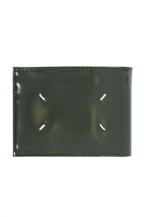MAISON MARGIELA Green Glossy Folded Wallet 1