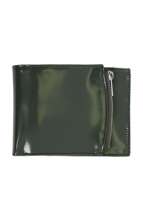 MAISON MARGIELA Green Glossy Folded Wallet 0