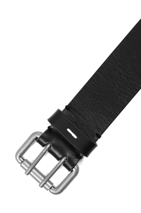 MAISON MARGIELA Black Leather Double Prong Belt 1