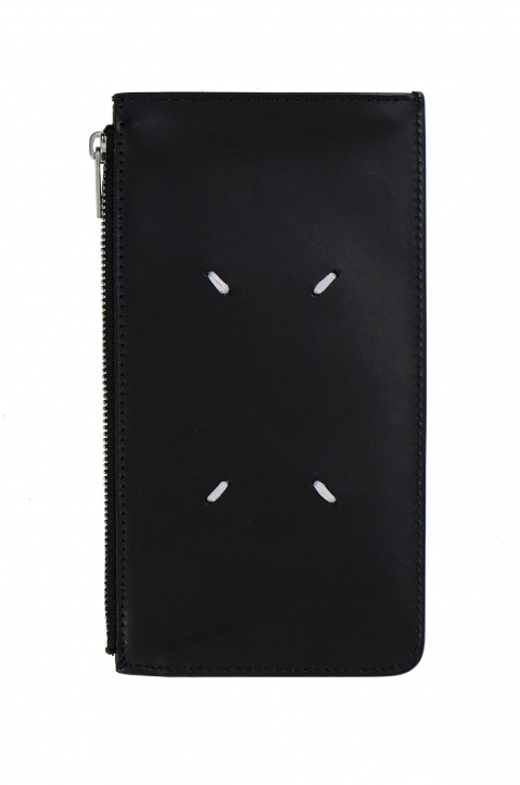 MAISON MARGIELA Black Long Calfskin Card-holder 1