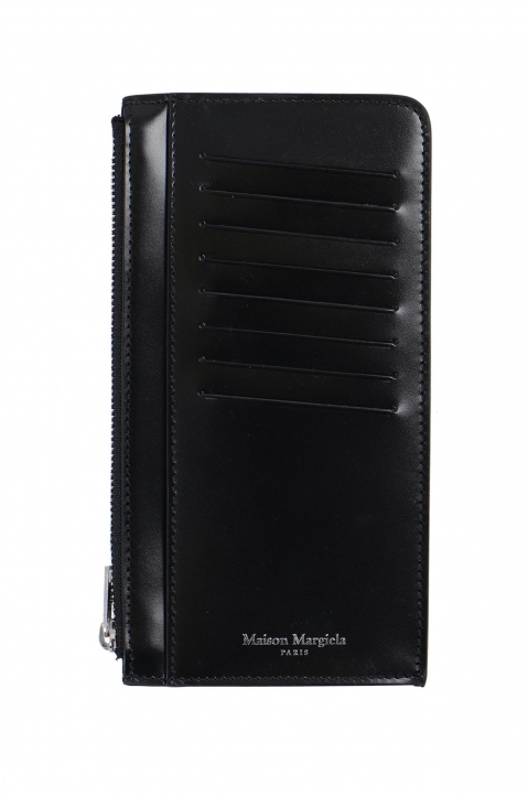 MAISON MARGIELA Black Long Calfskin Card-holder 0