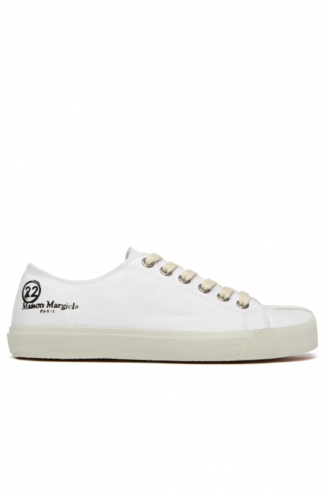 MAISON MARGIELA White Canvas Tabi Sneakers 0