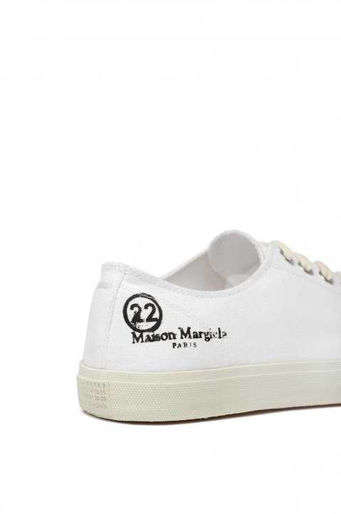 MAISON MARGIELA White Canvas Tabi Sneakers 3