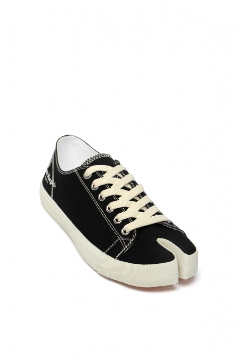 MAISON MARGIELA Black Canvas Tabi Sneakers 1