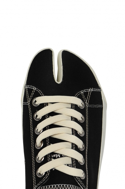 MAISON MARGIELA Black Canvas Tabi Sneakers 2
