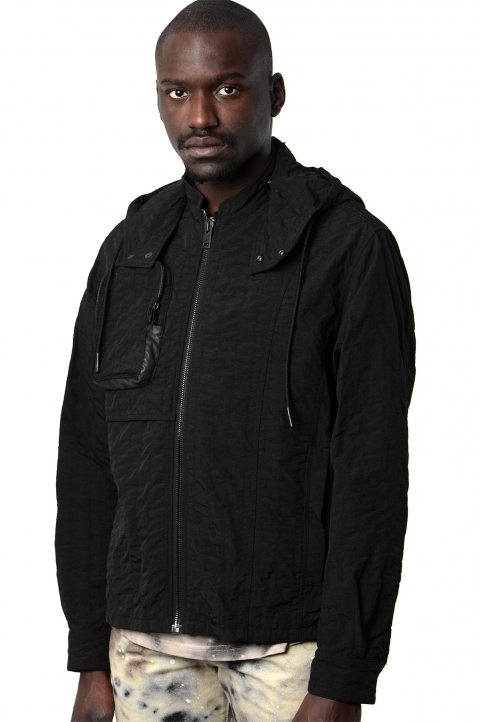ACW* X DIESEL Black Channel Stitch Jacket  0