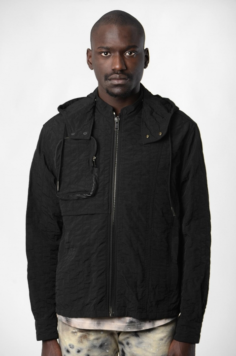 ACW* X DIESEL Black Channel Stitch Jacket  1