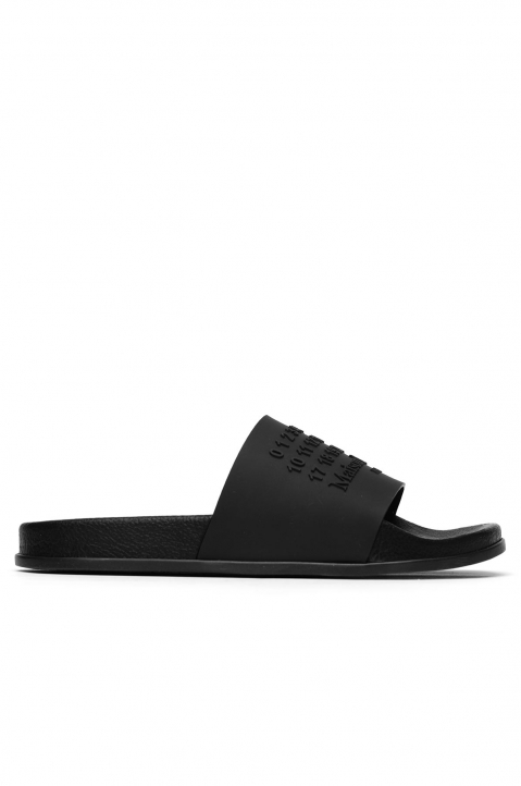 MAISON MARGIELA Black Shower Slides 0